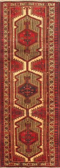 Tribal Red Runner rug 11-ft-runner Persian Hand-knotted 24018
