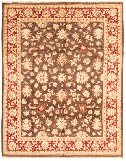 Traditional Brown Area rug 9x12 Afghan Hand-knotted 164713
