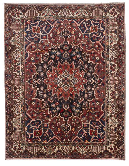 Traditional Brown Area rug 9x12 Persian Hand-knotted 206744
