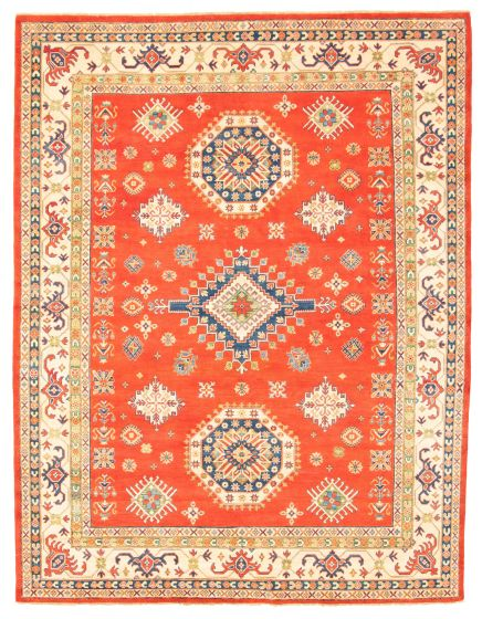Geometric  Traditional Red Area rug 9x12 Afghan Hand-knotted 312280
