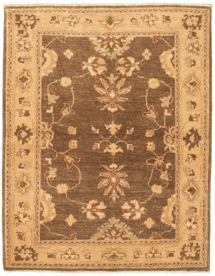 Bordered  Traditional Brown Area rug 3x5 Pakistani Hand-knotted 330440