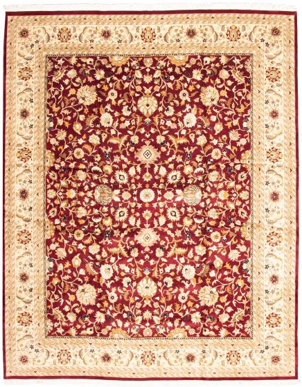 Bordered  Traditional Red Area rug 12x15 Pakistani Hand-knotted 339185