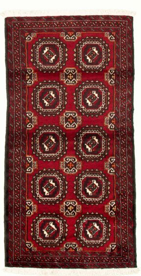 Bordered  Tribal Red Area rug 3x5 Afghan Hand-knotted 334813