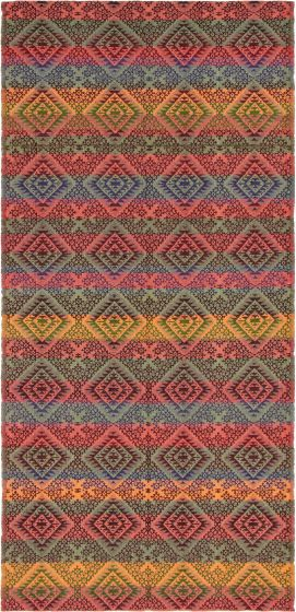 Flat-weaves & Kilims  Stripes Red Area rug Unique Turkish Flat-weave 296049