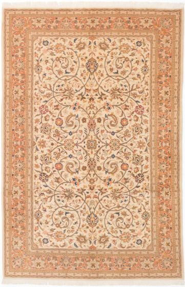 Traditional Blue Area rug 6x9 Persian Hand-knotted 204036