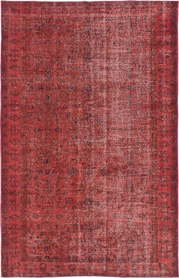 Transitional Orange Area rug 5x8 Turkish Hand-knotted 214277