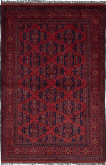 Traditional  Tribal Red Area rug 4x6 Afghan Hand-knotted 236400