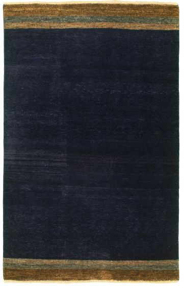 Casual  Transitional Blue Area rug 3x5 Pakistani Hand-knotted 330356