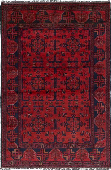 Traditional  Tribal Red Area rug 3x5 Afghan Hand-knotted 234603