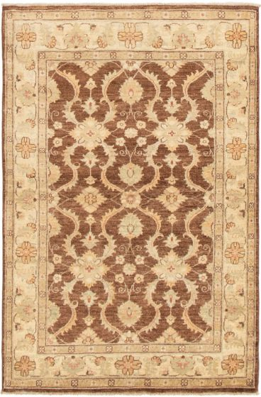 Bordered  Traditional Brown Area rug 3x5 Pakistani Hand-knotted 295514