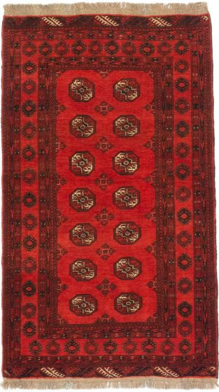 TraditionalTribal Red Area rug 3x5 Afghan Hand-knotted 201477