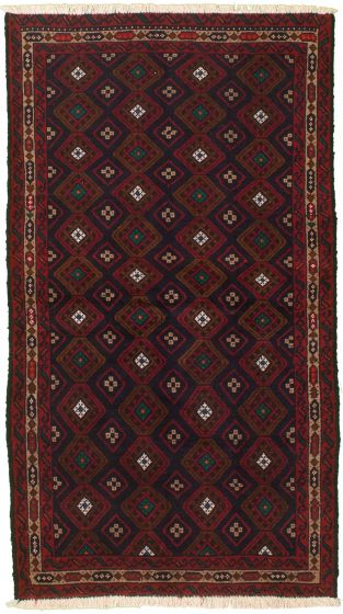 Bordered  Tribal Blue Area rug 3x5 Afghan Hand-knotted 334943