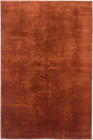 TraditionalTribal Orange Area rug 6x9 Persian Hand-knotted 202691