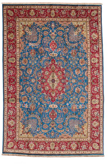 Traditional Blue Area rug 9x12 Persian Hand-knotted 206575