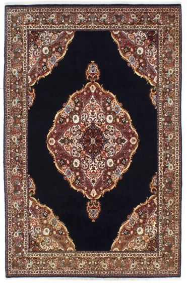 Traditional Blue Area rug Unique Persian Hand-knotted 206975
