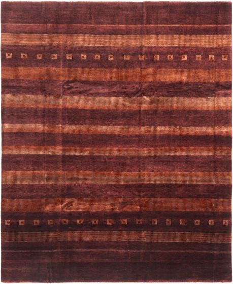Gabbeh  Transitional Red Area rug 6x9 Afghan Hand-knotted 280361