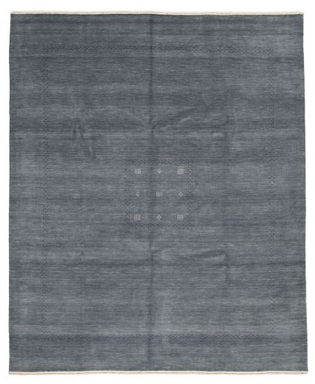 Gabbeh  Tribal Grey Area rug 6x9 Indian Hand-knotted 331212