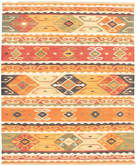 Casual  Transitional Multi Area rug 6x9 Turkish Flat-weave 335987