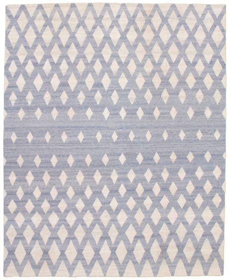 Flat-weaves & Kilims  Transitional Blue Area rug 6x9 Turkish Flat-weave 340084