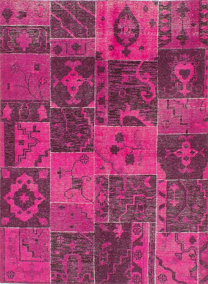 Bohemian  Transitional Pink Area rug 5x8 Indian Hand-knotted 220090