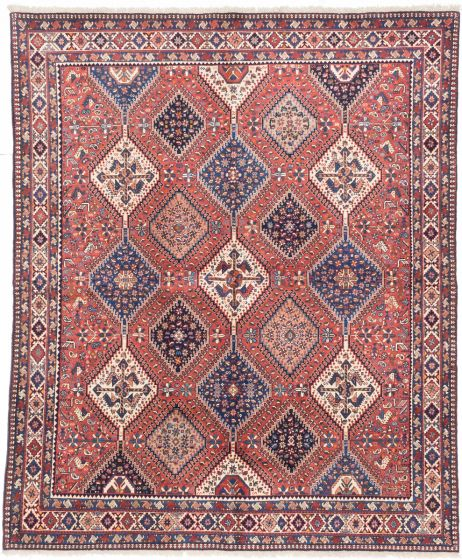 GeometricTraditional Brown Area rug 6x9 Persian Hand-knotted 202527