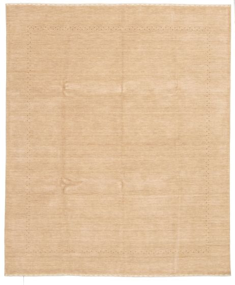 Gabbeh  Tribal Yellow Area rug 6x9 Indian Hand-knotted 331237