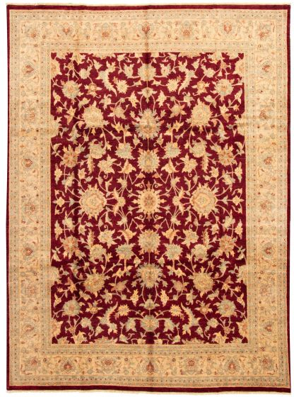 Traditional Red Area rug 9x12 Indian Hand-knotted 164726