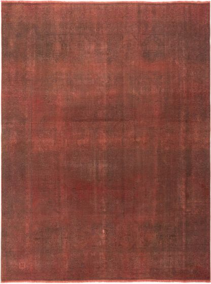Overdyed  Transitional Red Area rug 9x12 Turkish Hand-knotted 280400