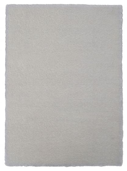 Accent  Solid Ivory Area rug 2x3 Imported Handmade 328538