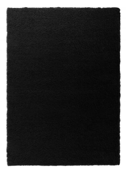 Accent  Solid Black Area rug 2x3 Imported Handmade 328539