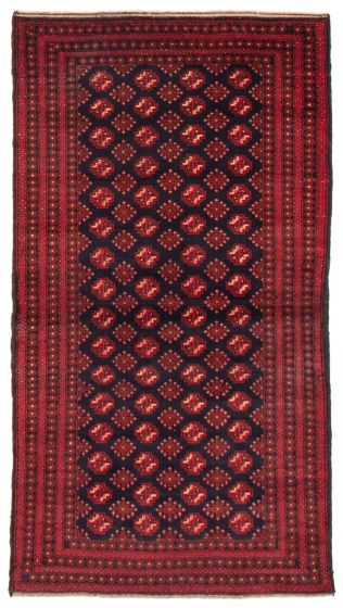 Geometric  Tribal Red Area rug 4x6 Afghan Hand-knotted 367569