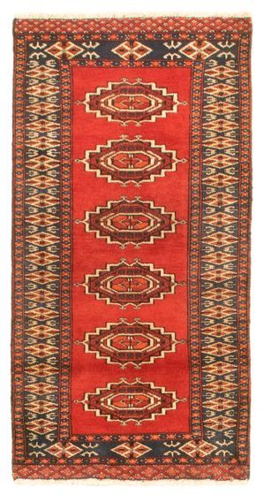 Bordered  Tribal Red Area rug 2x3 Pakistani Hand-knotted 343309