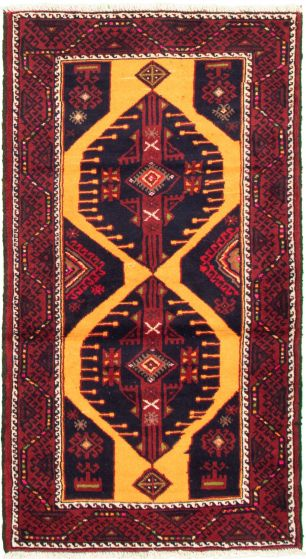 Bordered  Tribal Orange Area rug 3x5 Afghan Hand-knotted 333888