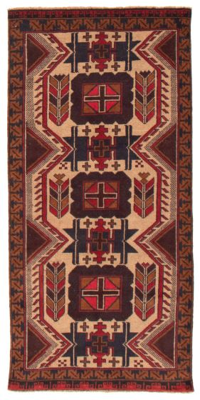 Geometric  Tribal Yellow Runner rug 7-ft-runner Afghan Hand-knotted 367545