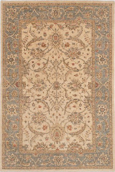 Traditional Ivory Area rug 5x8 Pakistani Hand-knotted 224099