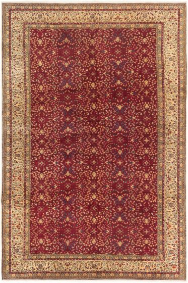 Bordered  Floral Red Area rug 6x9 Turkish Hand-knotted 280994