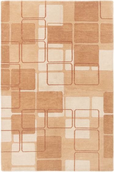 Carved  Transitional Brown Area rug 5x8 Nepal Hand-knotted 282359