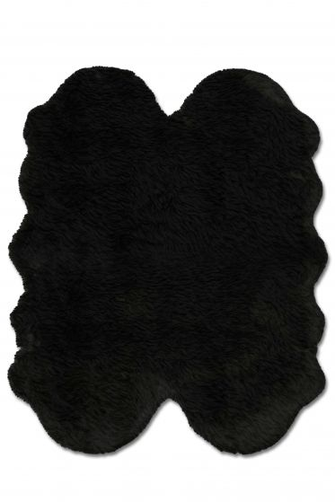 Accent  Solid Black Area rug 3x5 Imported Handmade 328579