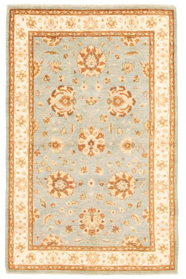 Bordered  Traditional Blue Area rug 3x5 Afghan Hand-knotted 331535