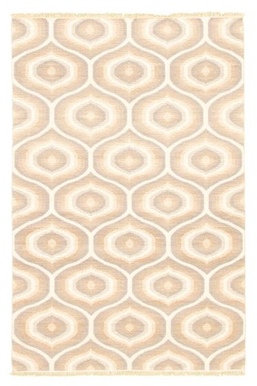 Flat-weaves & Kilims  Transitional Grey Area rug 4x6 Turkish Flat-weave 344486
