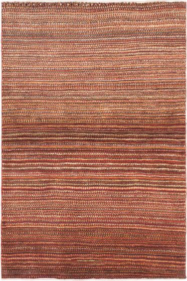 Contemporary Red Area rug 3x5 Persian Hand-knotted 21212