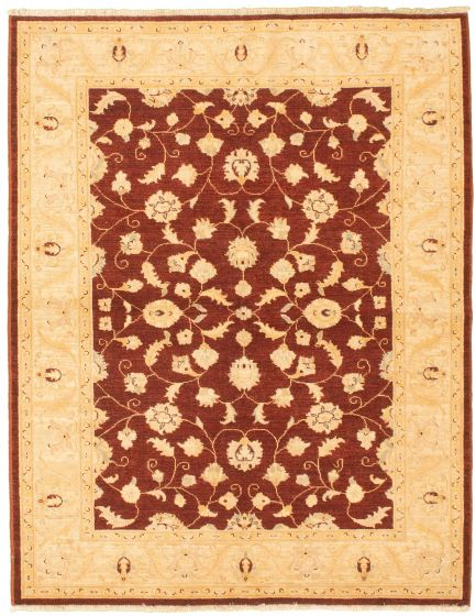 Bordered  Traditional Red Area rug 4x6 Afghan Hand-knotted 330455