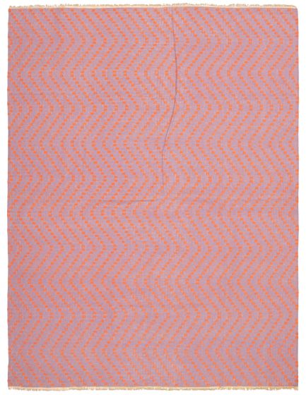 Flat-weaves & Kilims  Transitional Purple Area rug 9x12 Indian Flat-weave 344565