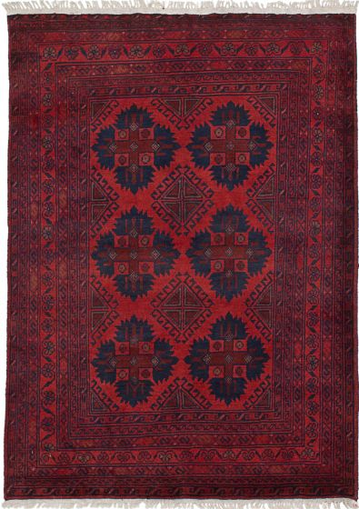 Traditional  Tribal Red Area rug 3x5 Afghan Hand-knotted 235783