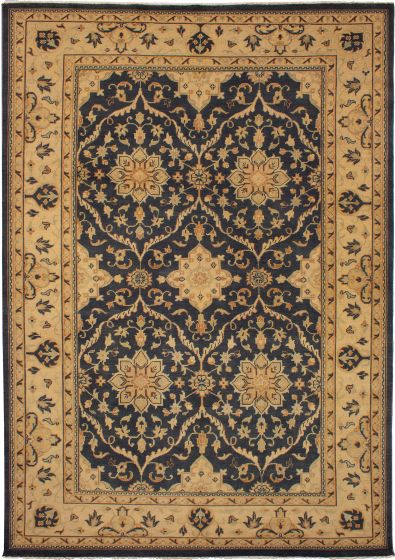 Bordered  Traditional Grey Area rug 10x14 Indian Hand-knotted 271783