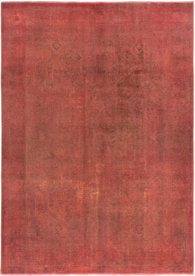 Overdyed  Transitional Pink Area rug 8x10 Turkish Hand-knotted 280413
