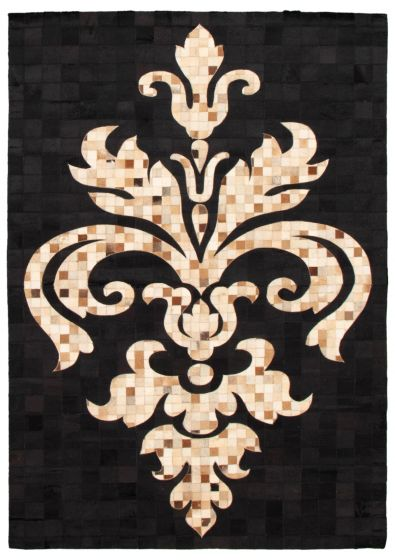 Accent  Transitional Black Area rug 4x6 Argentina Handmade 340307