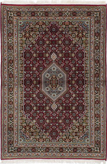 Traditional Red Area rug 3x5 Indian Hand-knotted 236425