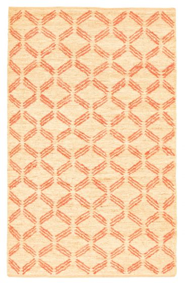 Flat-weaves & Kilims  Transitional Brown Area rug 5x8 Indian Flat-weave 344483