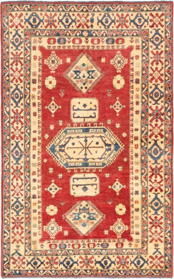 Traditional Red Area rug Unique Afghan Hand-knotted 179958